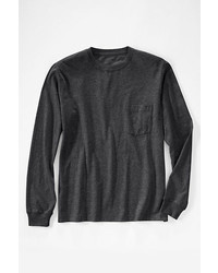 Lands' End Long Sleeve Super T With Pocket Expedition Green