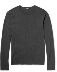 Dolce & Gabbana Long Sleeved Cotton Jersey T Shirt