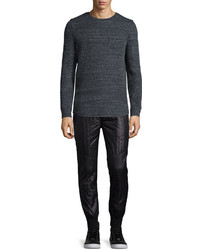 Helmut Lang Melange Long Sleeve T Shirt Dark Gray