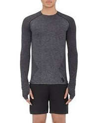 Y-3 Sport Perforated Long Sleeve T Shirt Black