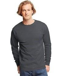 Hanes Shirts Tagless Long Sleeve T Shirt