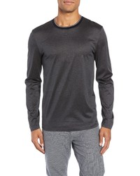 BOSS Tenison Mercerized Long Sleeve Slim Fit T Shirt