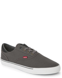 Levi's Charcoal Ethan Canvas Low Top Sneakers