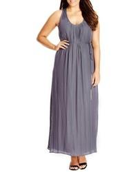Plus size knot back maxi dress medium 517792