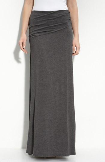 Bobeau Asymmetric Knit Maxi Skirt Charcoal Medium P | Where to buy ...