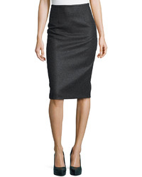 Michael Kors Michl Kors Felted Wool Pencil Skirt Charcoal