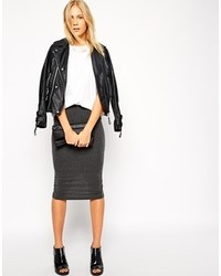Midi pencil skirt in jersey medium 150569