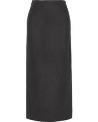 The Row Neela Wool Blend Felt Midi Skirt