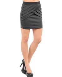 Stanzino Charcoal Pleated Mini Skirt