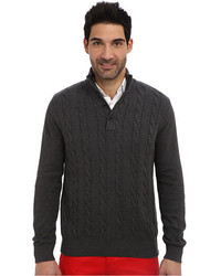 Nautica 7gg Botton Mock Neck Cable Sweater