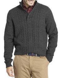 Arrow Long Sleeve Cable Knit Sweater