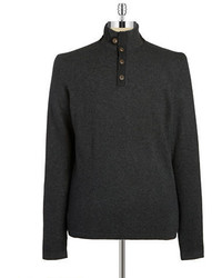 Black Brown 1826 Mockneck Cashmere Sweater