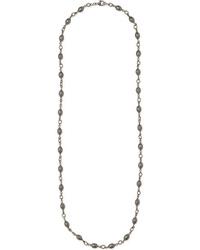 Sylva & Cie 18 Karat White Gold Sterling Silver And Diamond Necklace