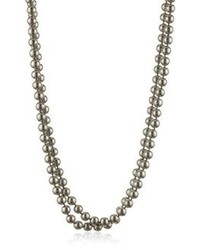 Carolee Charcoal Pearl Basics Simulated Pearl 72 Charcoal Necklace