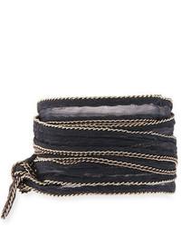 Chan Luu Chain Trim Fabric Necklace