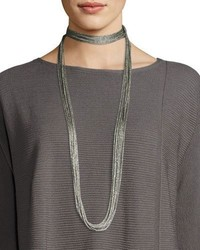 Lafayette 148 New York Tea Long Mesh Necklace 18