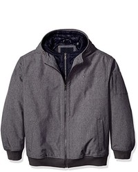 Tommy Hilfiger Big Soft Shell Fashion Bomber With Contrast Bib And Hood