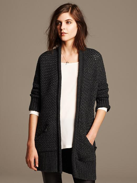 3a2fcb5d10 ... Banana Republic Textured Cocoon Long Cardigan ...