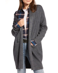 Treasure & Bond Boiled Wool Blend Long Cardigan