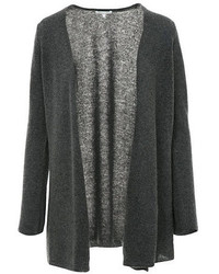 Minnie Rose Cashmere Duster Cardigan In Charcoal Heather