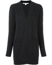 Diane von Furstenberg Patch Pockets Open Cardigan