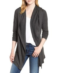 Michael Stars Draped Hooded Cardigan