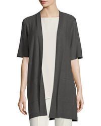 Eileen Fisher Long Simple Half Sleeve Cardigan