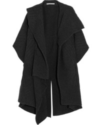 Ribbed wool cardigan charcoal medium 5173020