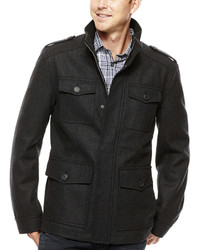Dockers 4 Pocket Wool Blend Military Coat