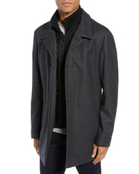 Hugo Barelto Wool Blend Coat With Bib Insert