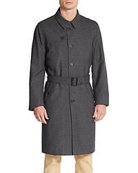 Dolce & Gabbana Belted Wool Blend Overcoat