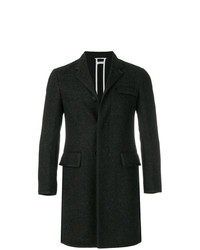 Thom Browne Bicolor Wool High Armhole Chesterfield Overcoat
