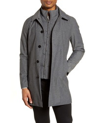 Reiss Caster Topcoat With Removable Bib