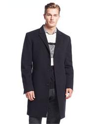 17aa98a6ca1e ... Calvin Klein Coat Solid Plaza Cashmere Blend Overcoat