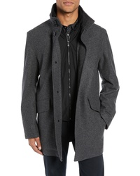 BOSS Coxtan Wool Regular Fit Car Coat