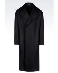 Giorgio Armani Double Breasted Coat In Heavy Broadcloth