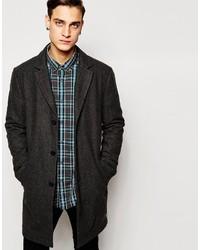 Esprit Houndstooth Wool Overcoat