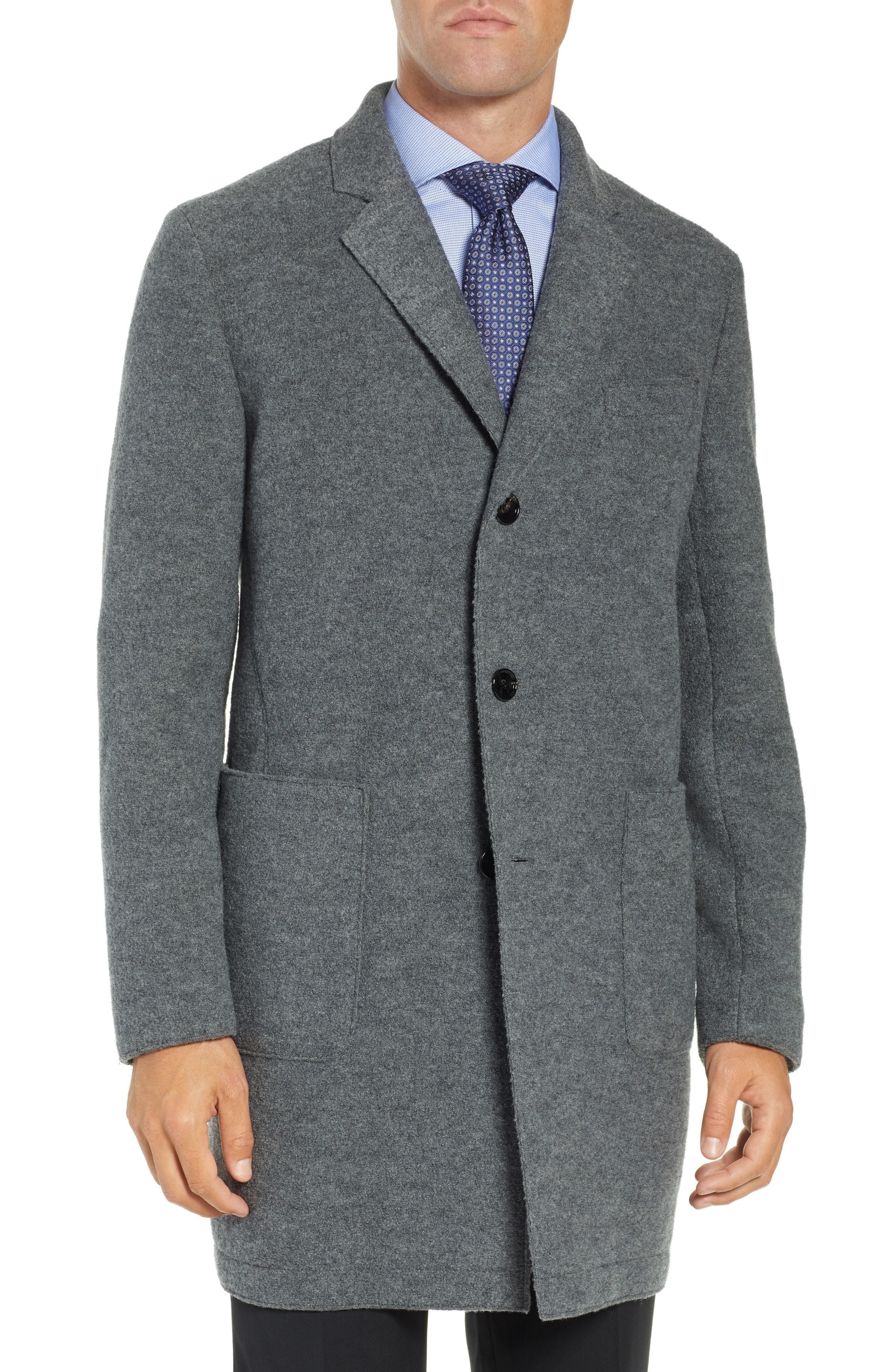 BOSS Fit Wool Overcoat
