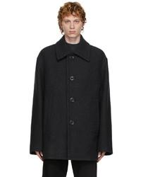 Dries Van Noten Grey Felted Wool Coat