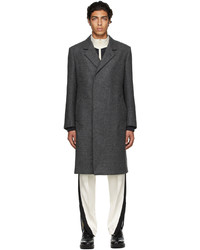 Dunhill Grey Half Wrap Coat