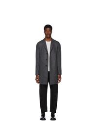 Harris Wharf London Grey Pressed Boxy Coat