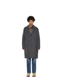 Acne Studios Grey Wool Double Face Coat