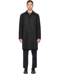 Harris Wharf London Grey Wool Mac Coat