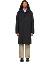 Dries Van Noten Grey Wool Oversized Coat