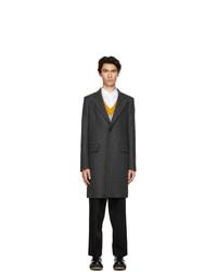 AMI Alexandre Mattiussi Grey Wool Two Buttons Coat