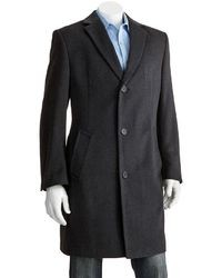 Jean Paul Germain Classic Fit 38 In Wool Blend Top Coat