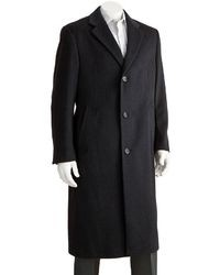 Jean Paul Germain Classic Fit 45 In Wool Blend Top Coat