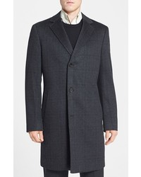 John W Nordstrom Clifton Plaid Cashmere Overcoat