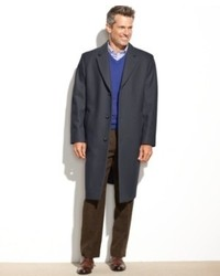 London Fog Coat Signature Wool Blend Overcoat