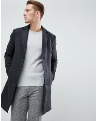 Pier One Long Coat In Dark Grey